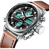 Spyn Analogue-Digital Black Dial Men's Watch (I039-Br)