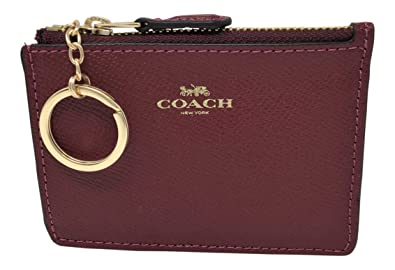 7eac880036 Image Unavailable. Image not available for. Color  Coach F12186 Mini Skinny  ID Case In Crossgrain Leather Cherry