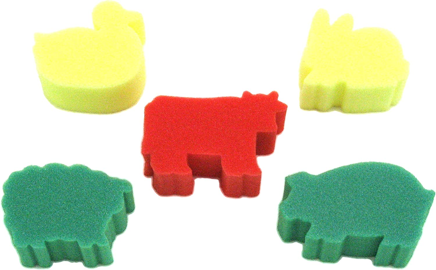 Pack of 5 Be Creative Animal Sponge Painting Set