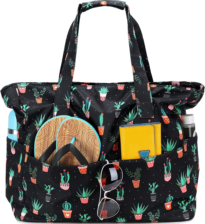 Varios Colores Bolsos de Playa Grande Mujer con Cremallera para Piscina y Playa en Verano