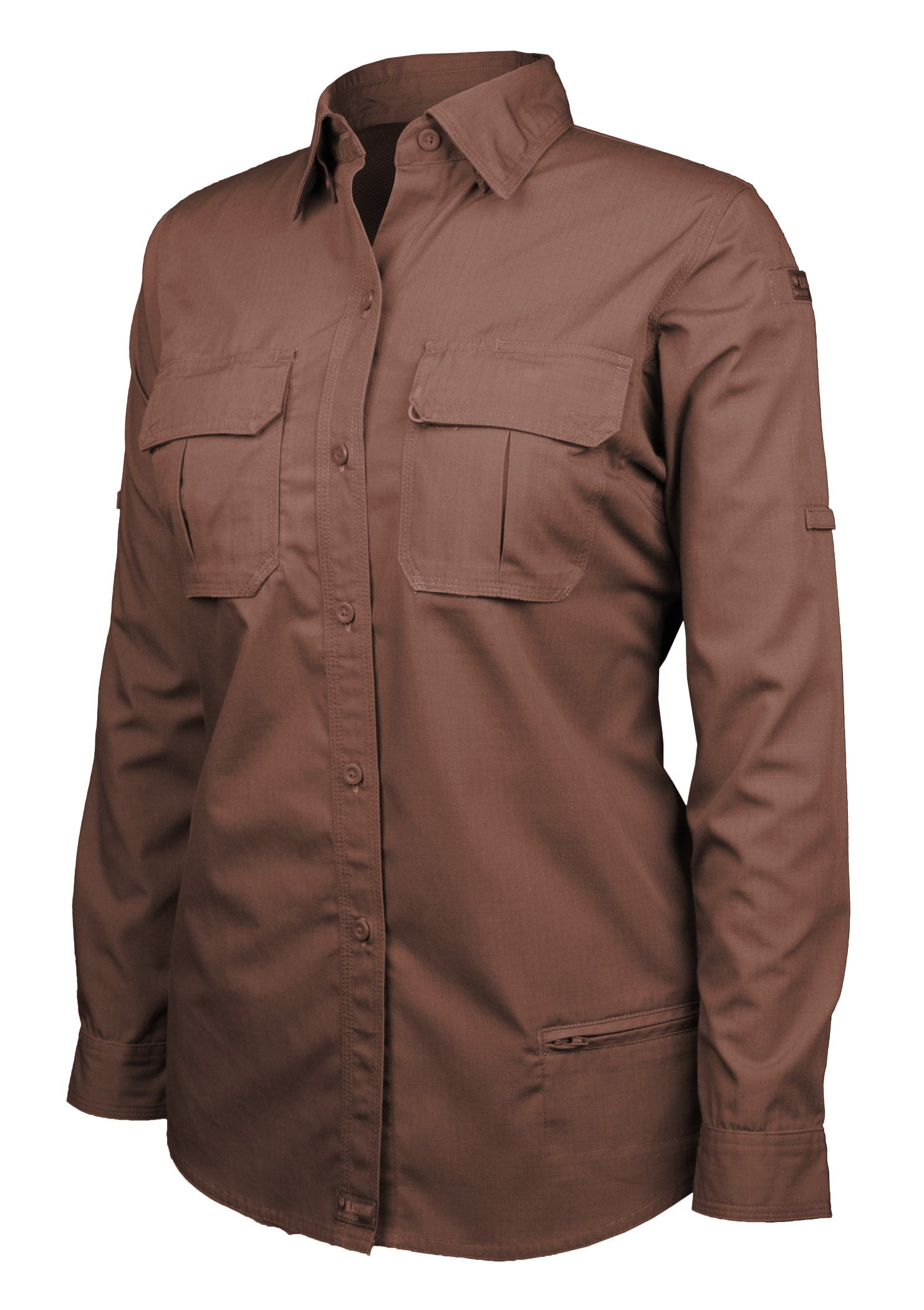 Blackhawk! Women's Lightweight Tactical Long Sleeve Shirt, Chocolate Brown, XX-Large by BLACKHAWK!