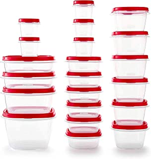 product image for Rubbermaid - 2063704 Rubbermaid Easy Find Vented Lids Food Storage Containers, Set of 21 (42 Pieces Total), Racer Red