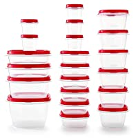 Rubbermaid Easy Find Vented Lids Food Storage Containers, Set of 21 (42 Pieces Total...