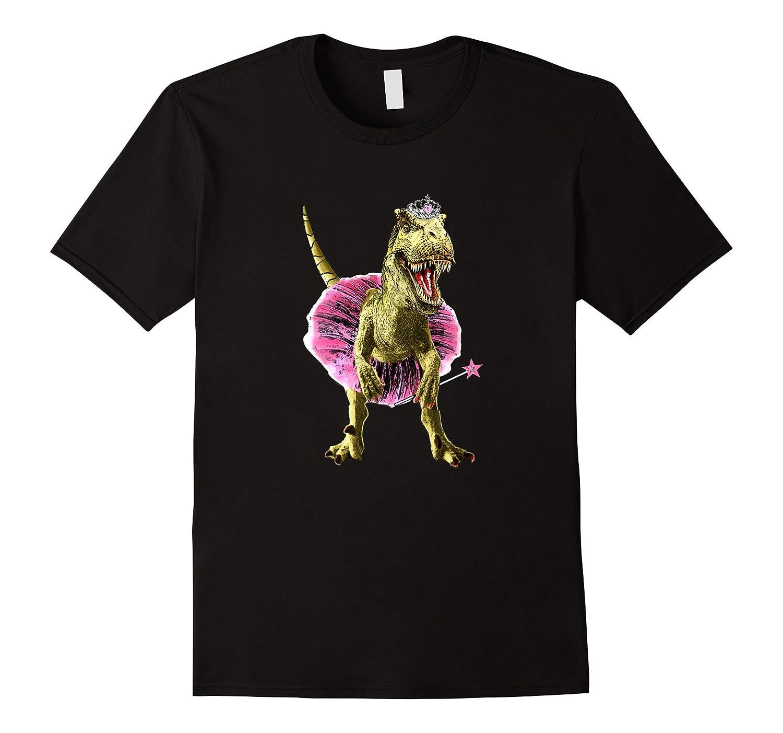 Ballerina T-Rex Dinosaur T-shirt-RT