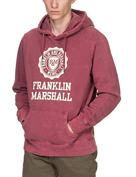 Franklin & Marshall - Sudadera - para hombre Rojo FLMF248ANW17 | Vintage Po Large