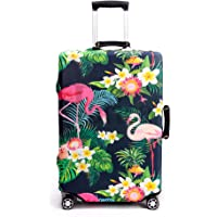 Periea Premium 3mm Elasticated Suitcase Luggage Cover - 38 Different Designs - Small, Medium or Large (Tropical Flamingos, Small)