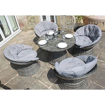Miraculous Owo Living Luxury Rattan Outdoor Aluminium 4 Seat Swivel Forskolin Free Trial Chair Design Images Forskolin Free Trialorg