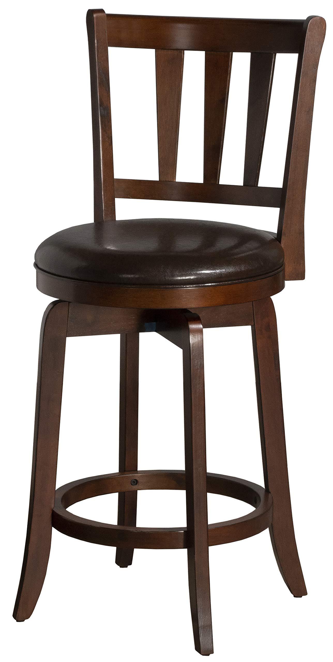 Hillsdale Presque Isle Swivel Bar Stool, Cherry by Hillsdale Furniture