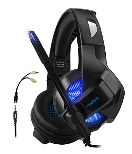 Amazon.com  Folding Gaming Headset for Xbox One PS4 4a7710632d