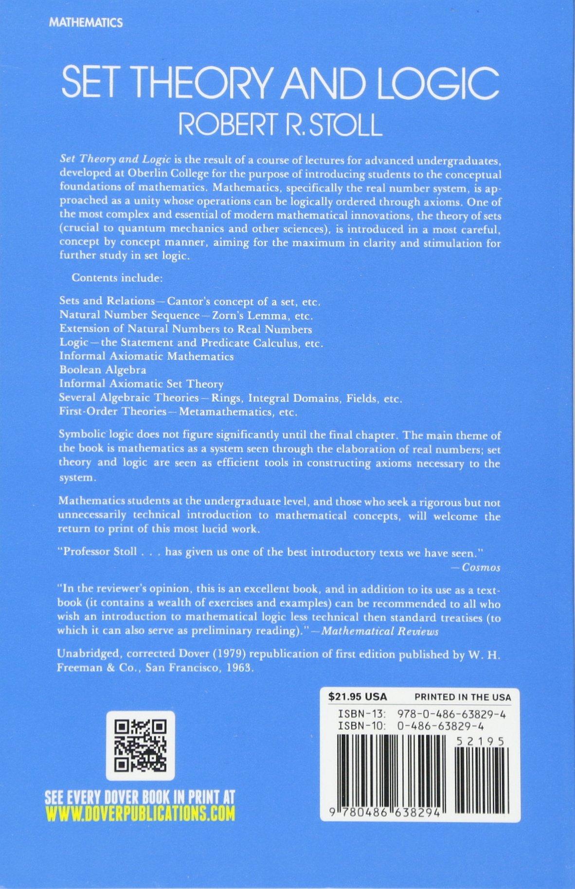 Set Theory And Logic Robert R Stoll Radio Frequency Circuit Design W Alan Davis Inbunden