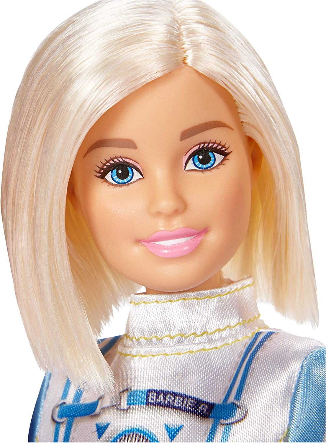 Amazon Com Barbie Astronaut Doll Blonde Wearing Space Suit And Helmet Toys Games