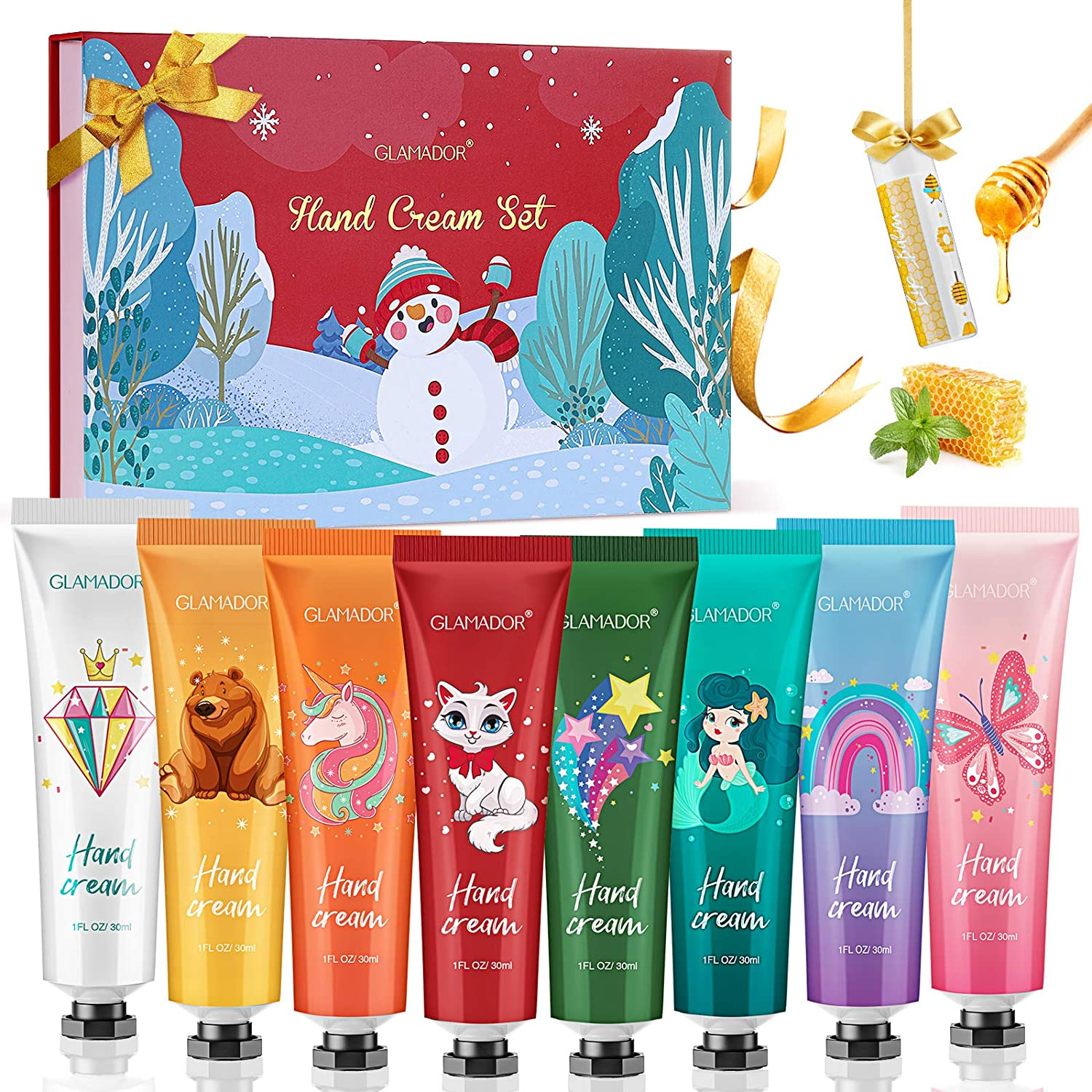 Hand Cream Gift Set, GLAMADOR 8x30ml Moisturizing Hand Lotion Travel Gift Kit for Dry Hands with Shea Butter & Vitamin E WAS £14.97 NOW £10.17 w/code GLAMADOR200 @ Amazon