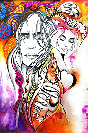 Poster à Colorier Pour Adultes Toutes Techniques Crayon Aquarelle