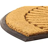 """NoTrax, Crescent, Rubber-Backed Natural Coir Doormat, Entry Mat for Indoor or Outdoor Use, 24""""x39"""", C04 (C04S1830CR)"""