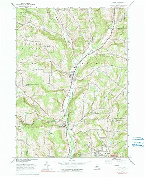 Topo Map Of Maine.Amazon Com Yellowmaps Maine Ny Topo Map 1 24000 Scale 7 5 X 7 5