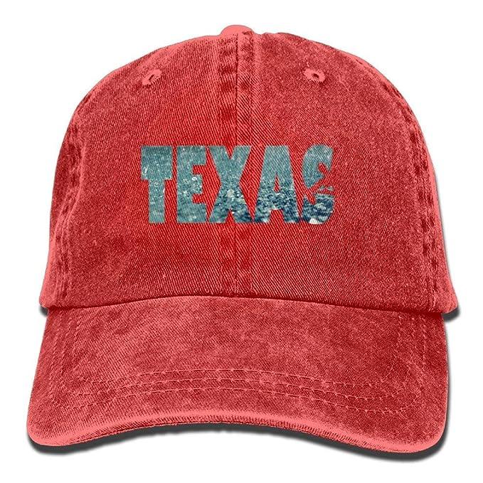 Amazon.com  Rain Texas Vintage Jeans Baseball Cap Outdoor Sports Hat ... 89df47c5619