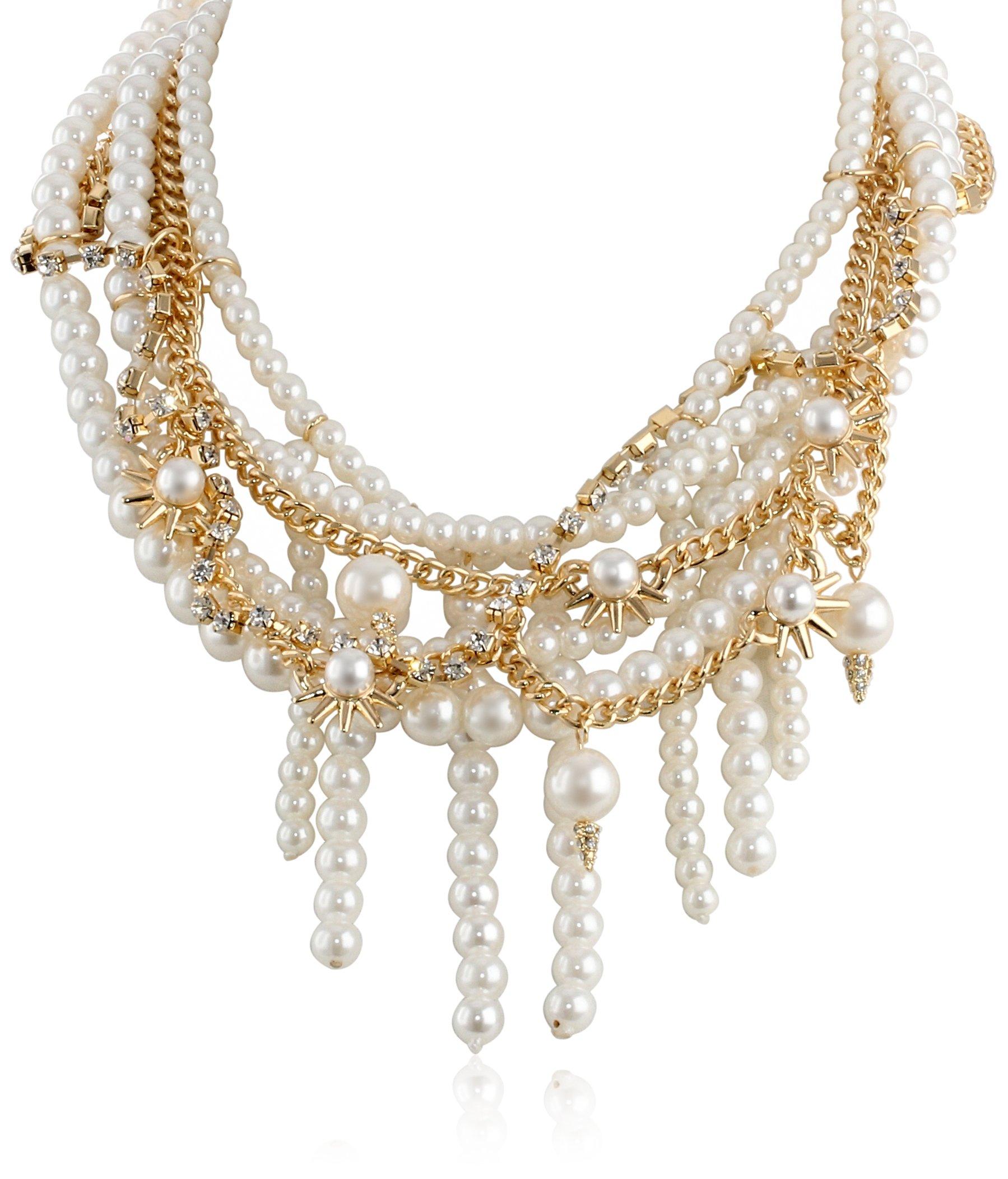 Sam Edelman Pearl Chain Collar Necklace, 16