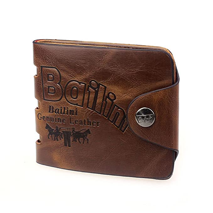 doinshop nuevo Bifold Billetera Titular de la tarjeta de crédito ID Slim Monedero de piel auténtica para hombre de moda: Amazon.es: Ropa y accesorios