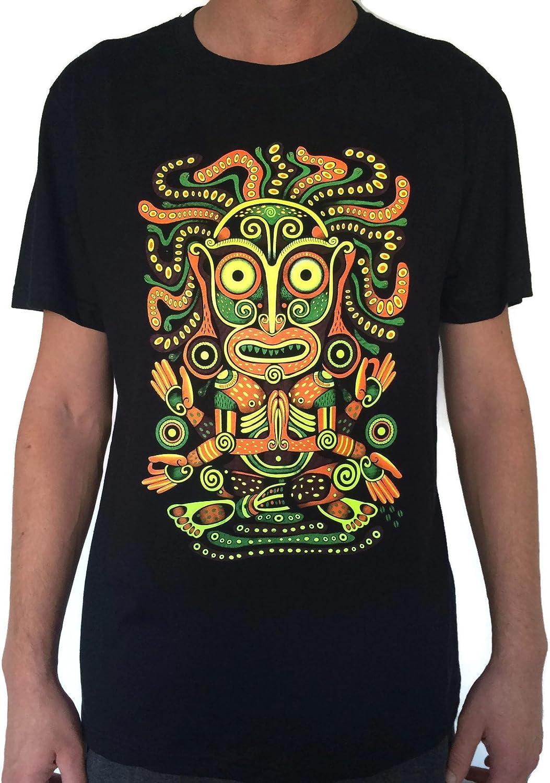 Mens Neon UV Glow Green Lightning Muscle Shirt Mens Rave or Festival Shirt 152321