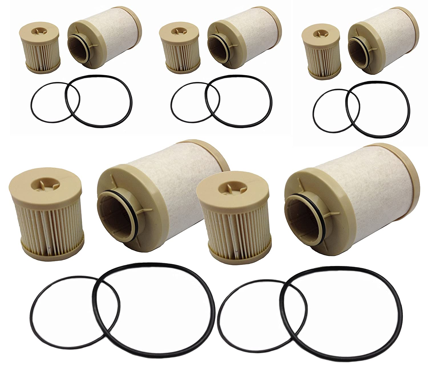 Amazon.com: Ford 6.0L 2003-2007 updated 4616 Diesel Fuel Filter 5 Pack  includes lower lifter pump filter and upper fuel bowl filter ADT-60-FD-4616  Ford F250 ...