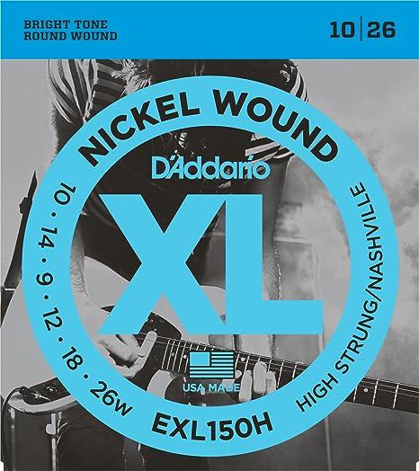 DAddario EXL150H - Juego de cuerdas para guitarra eléctrica de níquel.010 -