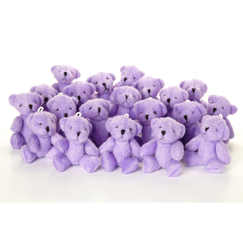 NEU Niedlich und Kuschelig Little Teddy Bear Lila X 42 – Geschenk Geburtstag Xmas