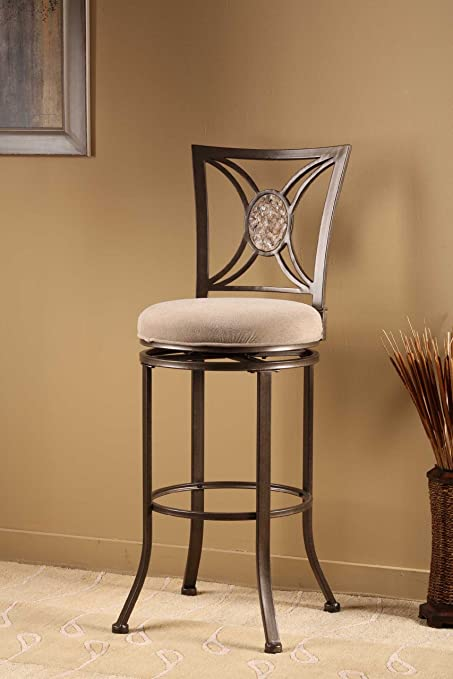 Amazoncom Hillsdale Furniture Swivel Stool 26 In Counter Height