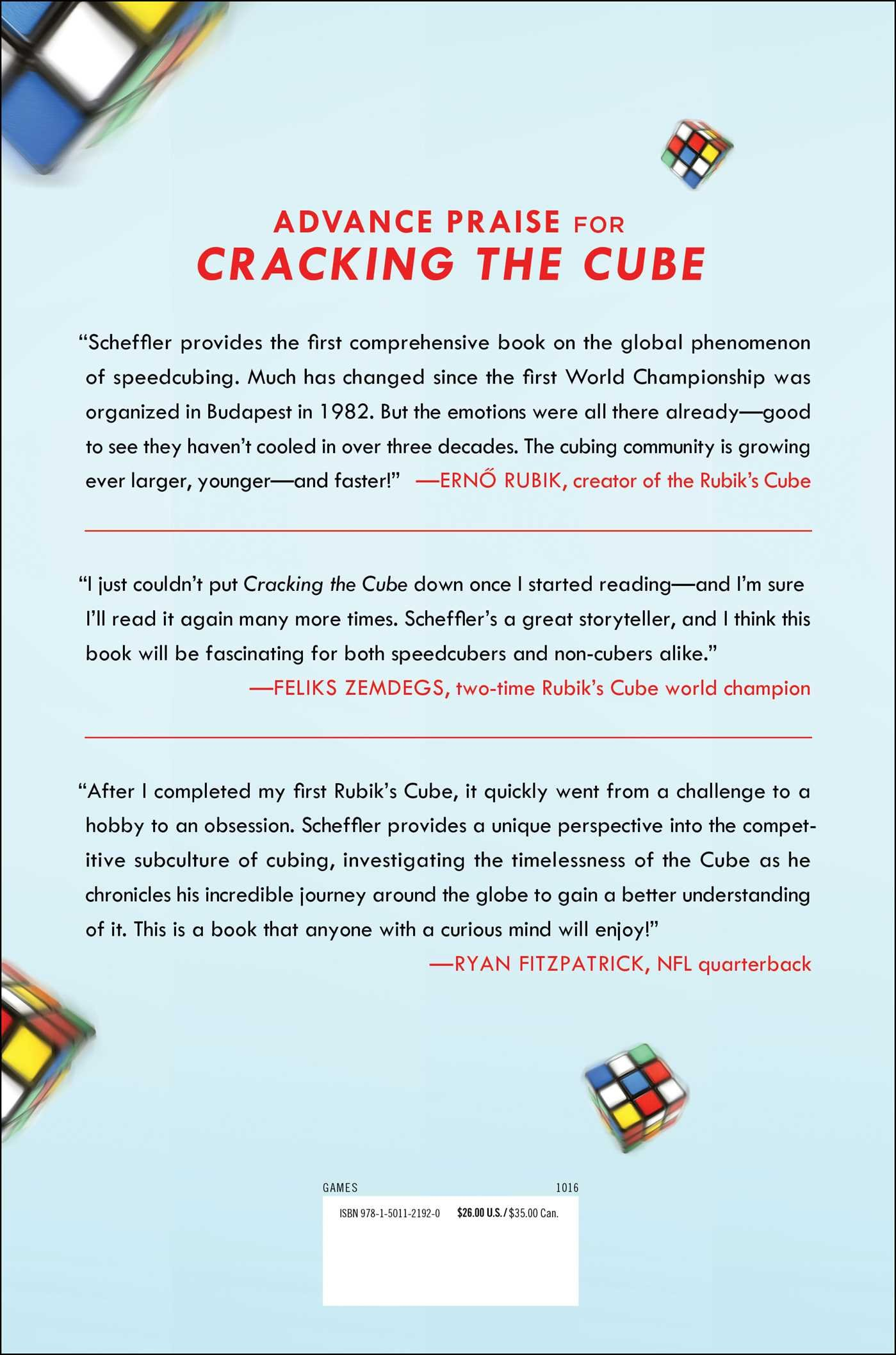Amazon: Cracking The Cube: Going Slow To Go Fast And Other Unexpected  Turns In The World Ofpetitive Rubik's Cube Solving (9781501121920): Ian