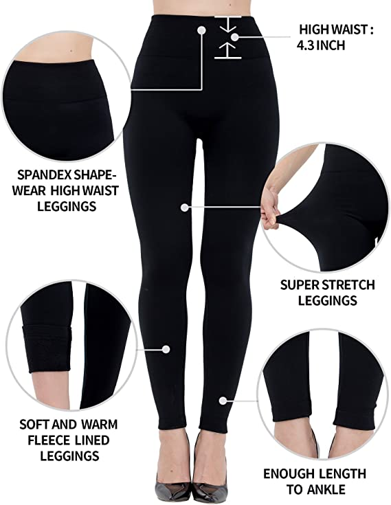Thicken Skinny Fleece Lined High Waist Large Size Women Leggings Thick Tights XL Winter Warm Women Velvet Elastic Leggings Pants HPZHANG High Waist Winter Warm Leggings