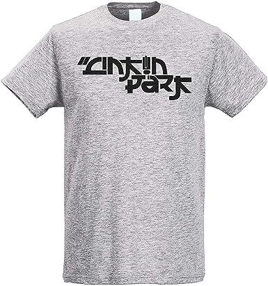 TINCURI Camiseta Hombre Gris Linkin Park Letras JAPONESAS Negras (XS-XXL): Amazon.es: Ropa y accesorios