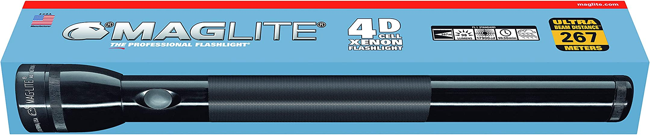 MAGLITE 4D-CELL PROFESSIONAL TORCH FLASHLIGHT XENON USA MADE BRAND NEW !