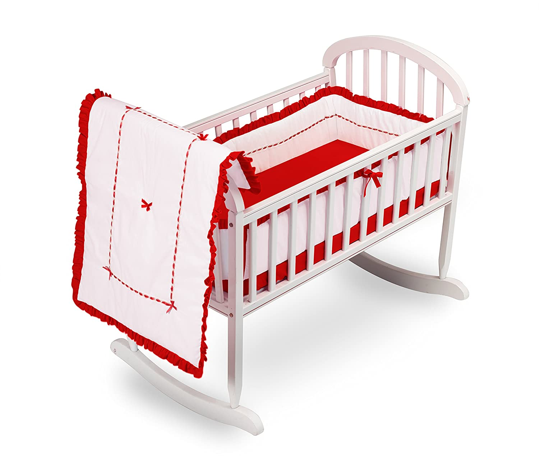 Baby Doll Bedding Unique Cradle Bedding Set, Hot Pink 1230cr36-hot pink