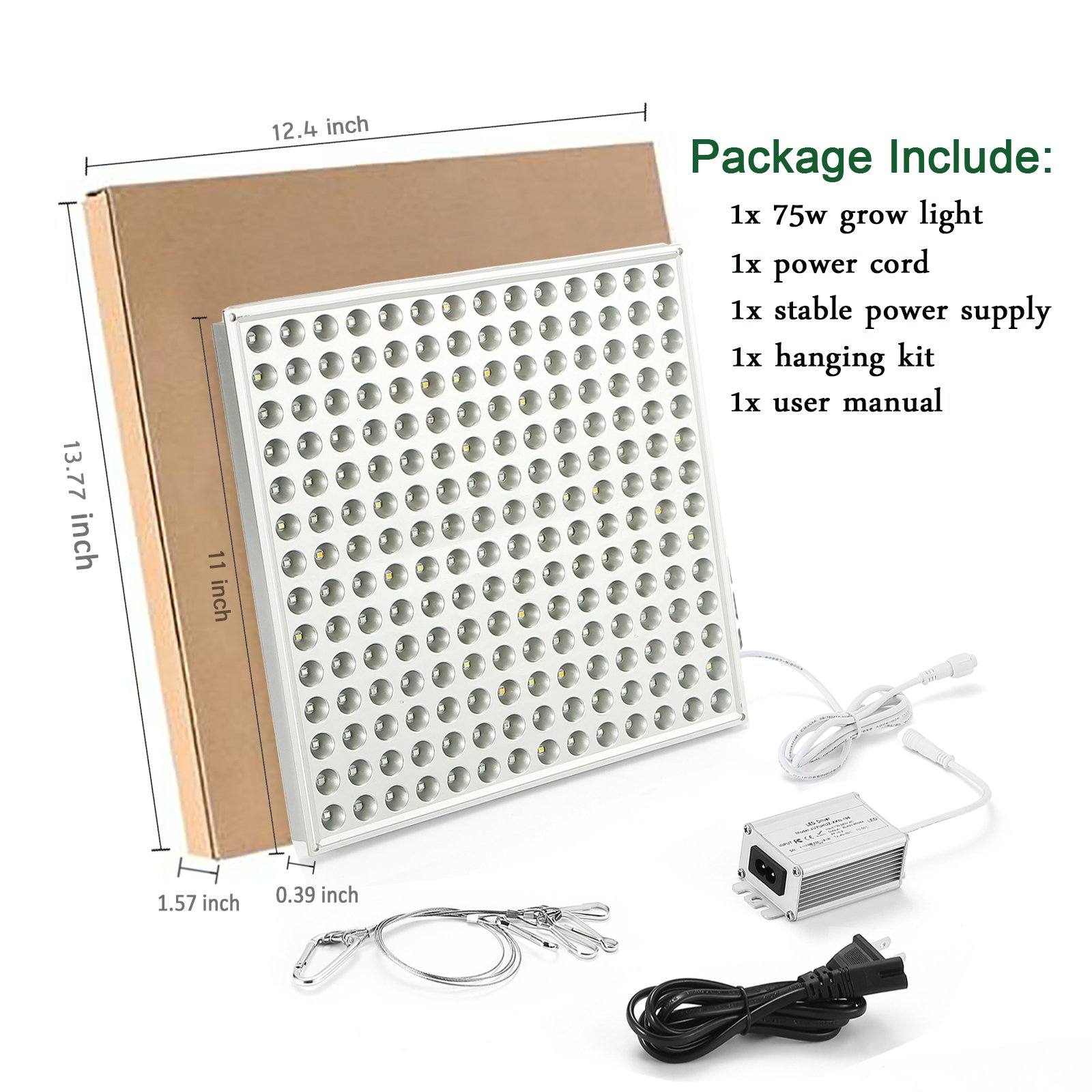 LED Grow Light for Indoor Plants,YGROW Upgraded 75W Growing Lamp Light Bulbs with Exclusive Full Spectrum for Greenhouse Hydroponic Plants from Seeding to Harvest by YGROW (Image #7)