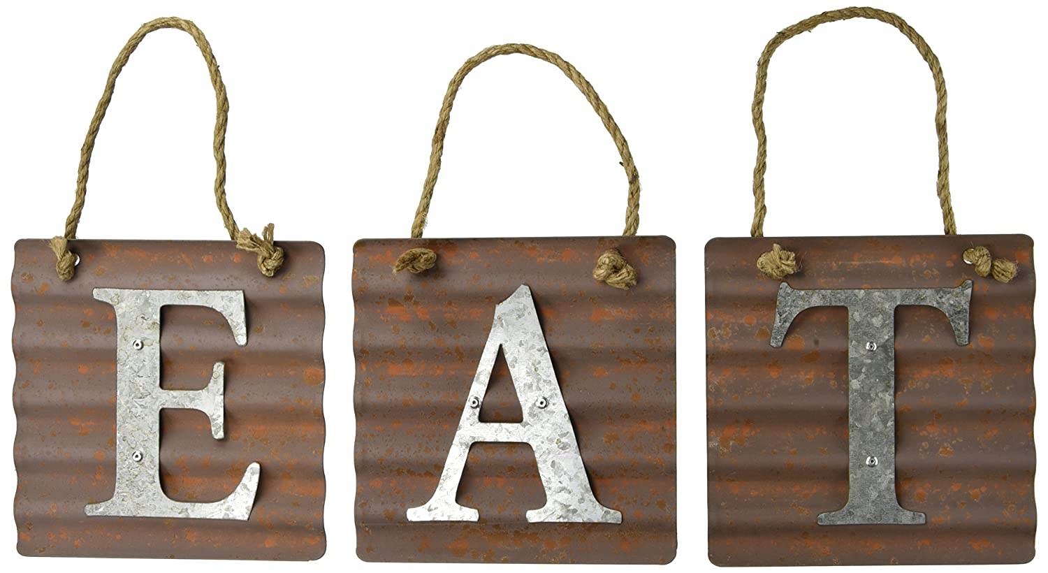 Xing Cheng Wall Metal Plaque Sign Eat Letter Sign Wavy Metal Plate for Kitchen model