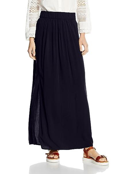 6ca0a2fd2 Only Onlnova Solid Maxi Skirt WVN, Falda para Mujer, Azul (Night Sky ...