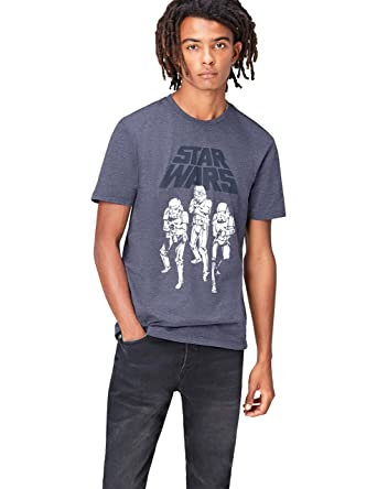 91f336b04c9 FIND Men s Star Wars Classic Stormtroopers Print T-Shirt  Amazon.co.uk   Clothing