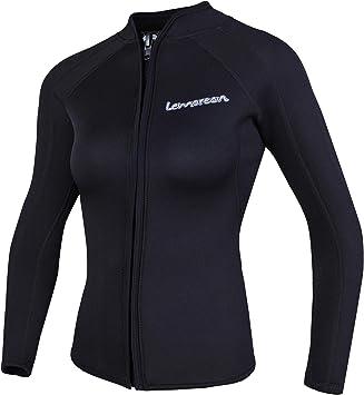 Amazon.com: Lemorecn - Chaqueta de neopreno para mujer ...
