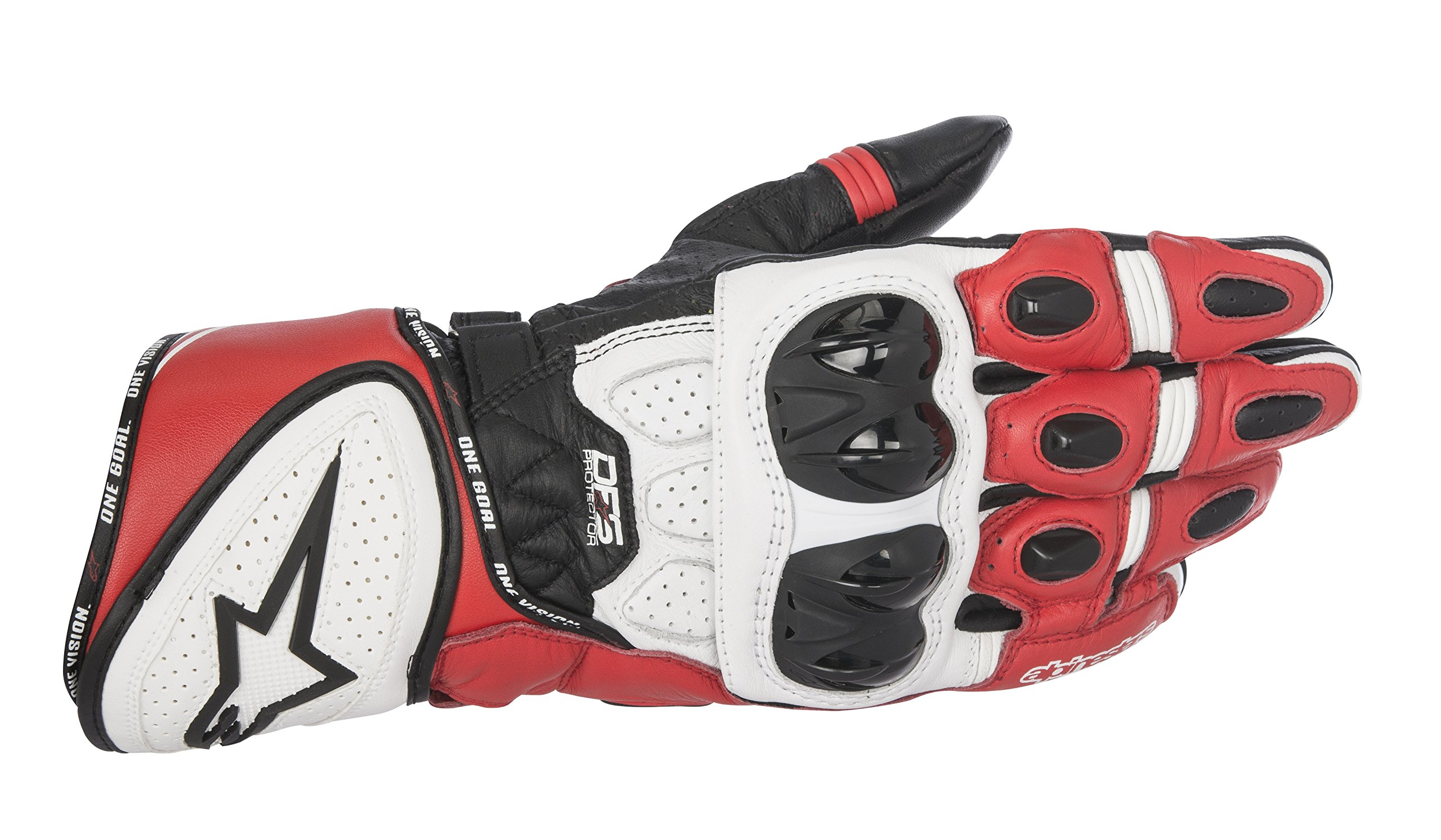 Alpinestars Men's GP Plus R Leather Glove (Black/White/Red, X-Large)