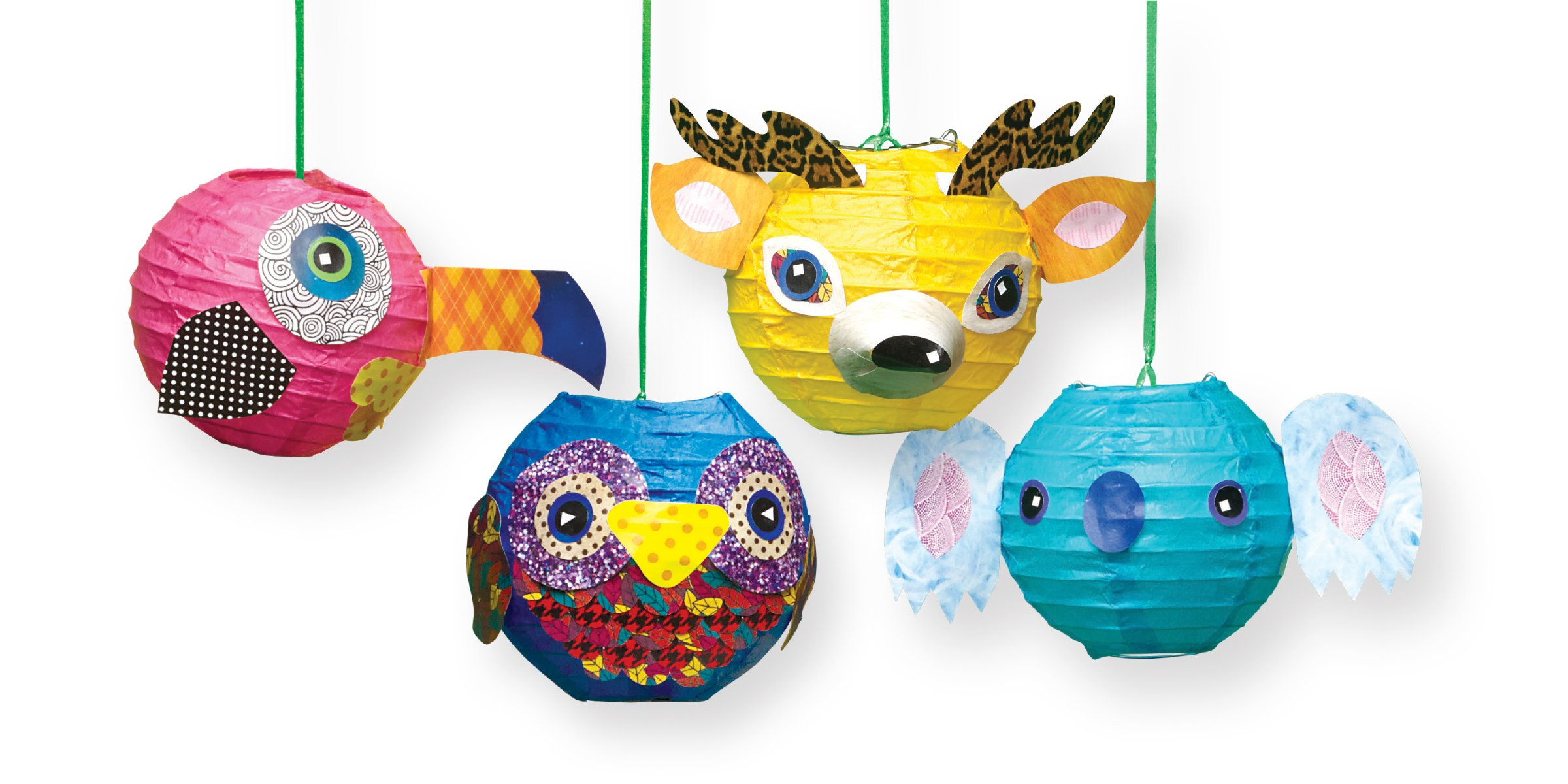 Make Paper Lantern Animals Klutz 9781338037555 Crafts /& Hobbies Novelty /& Activity  Books Holiday Gifts