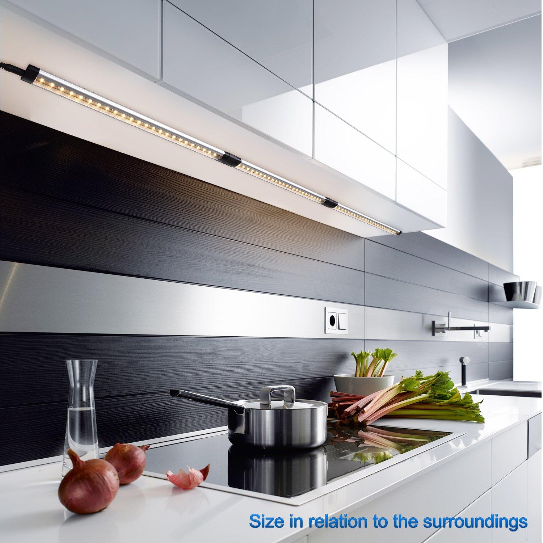 Viugreum- Luce Sottopensile Lampada da Sottopiano, Striscia LED ...