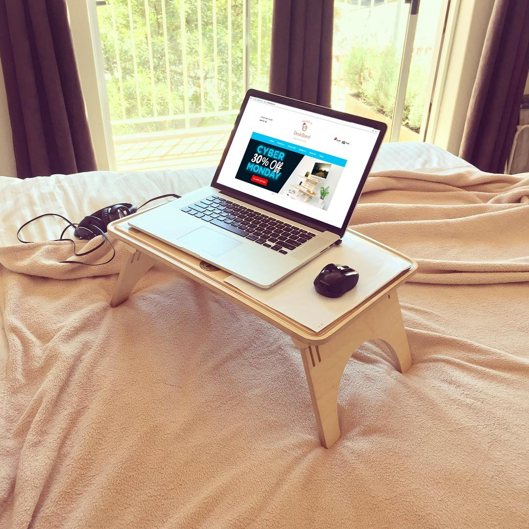 Escritorio de pie/ondulado para mesa/Soporte de mesa/cama escritorio/ portátil: Amazon.es: Oficina y papelería