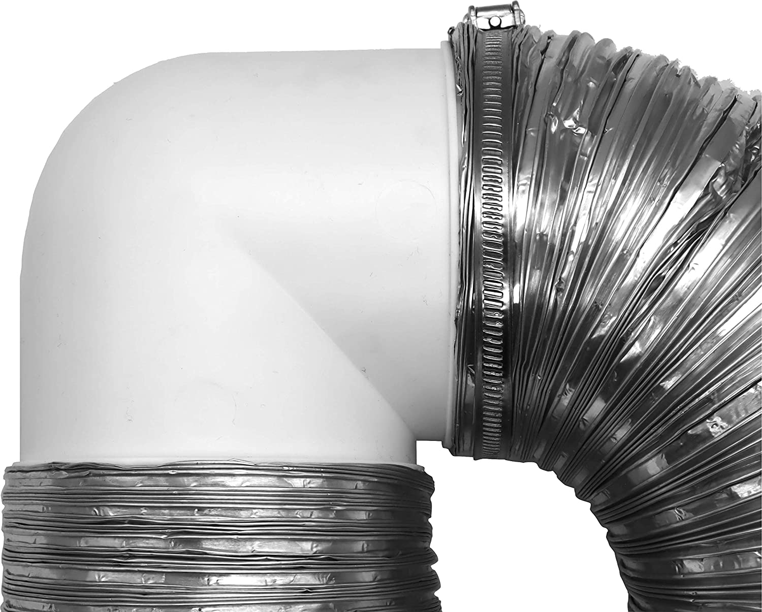 Vent Systems 4 inch Elbow 90 Degree Duct Pipe Connector Flexible Round Tube Ventilation Hose ABS Plastic 100 mm