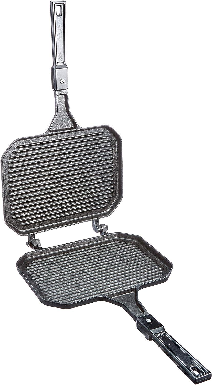 Ilsa 650 Grill-Sandwichera antiadherente, Negro