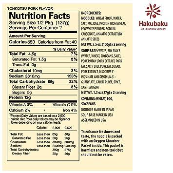 Amazon.com : Hakubaku Fresh Ramen Tonkotsu Pork Flavor, 9.7 ounce (6 pack) : Grocery & Gourmet Food