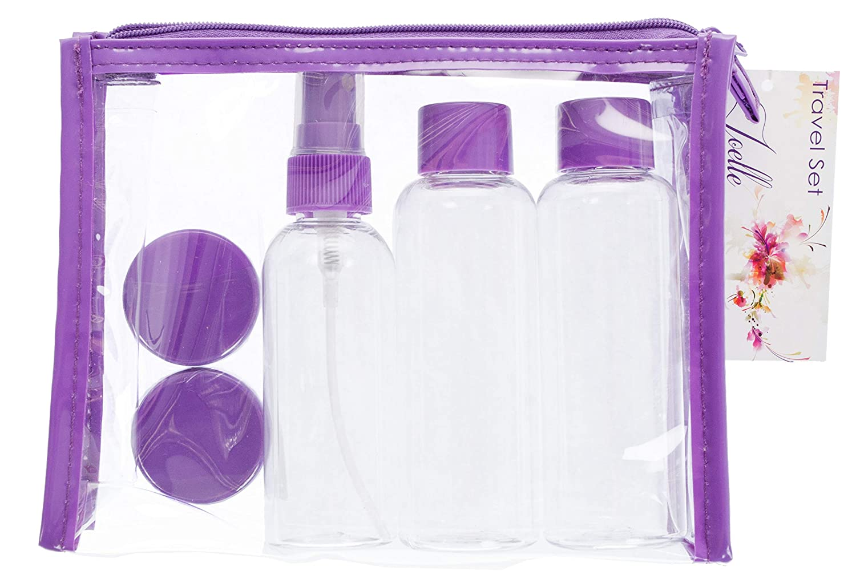 7 Piece Air Travel Bottle Set Danielle Exclusive Creations 0479