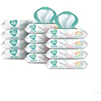 Baby Wipes, Pampers Sensitive Water Based Baby Diaper Wipes, Hypoallergenic and Unscented, 8X Pop-Top Packs with 4…