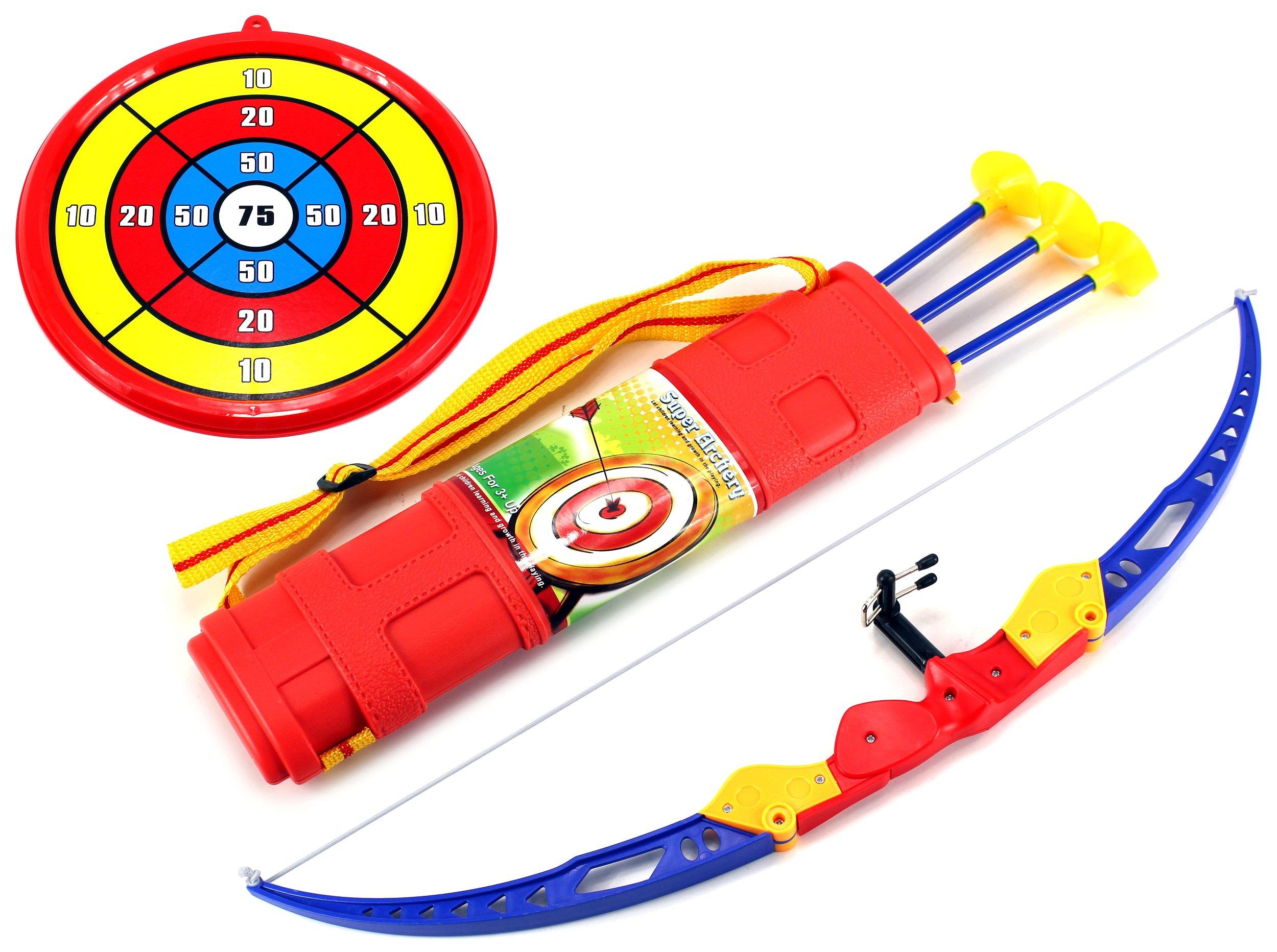Sport Super Archery '51C Children's Kid's Toy Bow and Arrow Dart Playset w/ Suction Dart Arrows