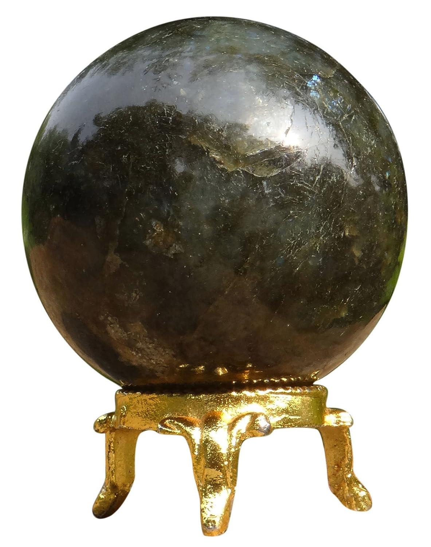 Harmonize Labradorite Stone Sphere Ball Balancing Reiki Healing Crystal Healing Table Dé cor Gift Ibacrafts