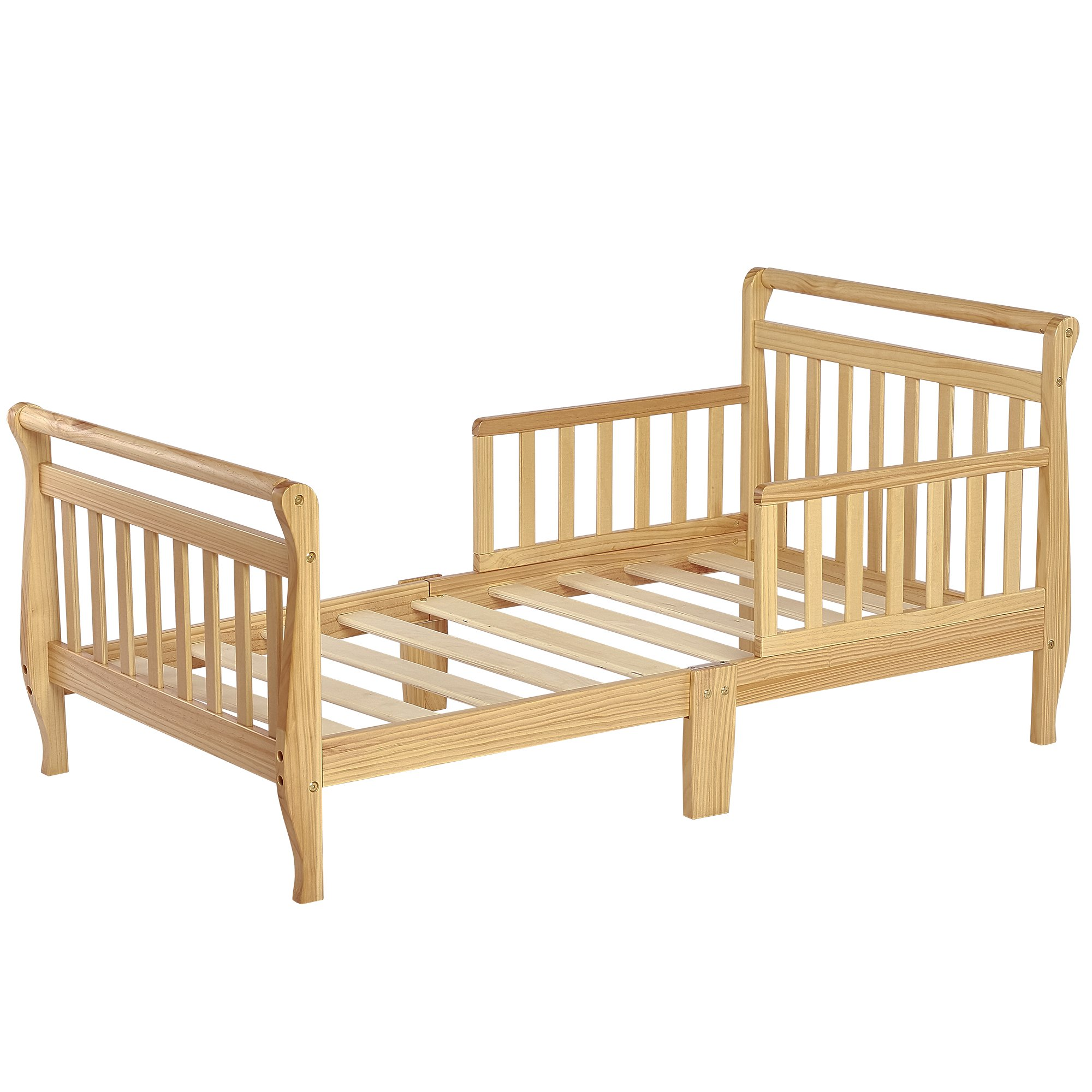 Dream On Me Classic Sleigh Toddler Bed - Natural