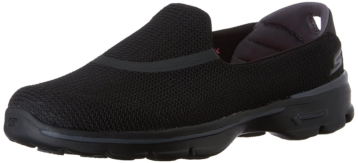 Skechers Performance Women's Go Walk 3 Slip-On Walking Shoe B00LL2NPA8 7.5 XW US|Black